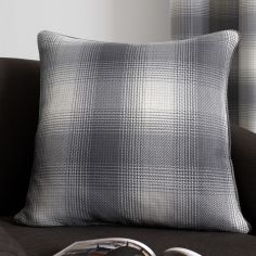 Lincoln Check Cushion Cover - Grey