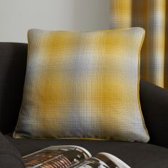 Lincoln Check Cushion Cover - Ochre Yellow