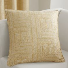 Lowe Textured Striped Cushion Cover - Ochre Yellow