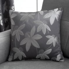 Romolo Floral Cushion Cover - Charcoal Grey