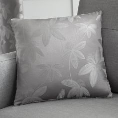 Romolo Floral Cushion Cover - Silver Grey