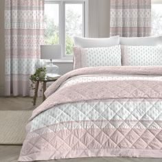 Elodi Floral Quilted Bedspread - Blush Pink