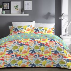 Fun Fruits Reversible Duvet Cover Set - Multi