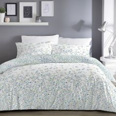 Ombre Leopard Reversible Duvet Cover Set - Blue