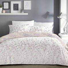 Ombre Leopard Reversible Duvet Cover Set - Blush Pink