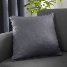 Strata Plain Textured Cushion Cover - Charcoal Grey