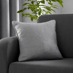 Strata Plain Textured Cushion Cover - Silver Grey