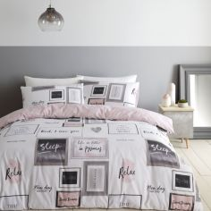 Catherine Lansfield Sleep Dreams Duvet Cover Set - Blush Pink
