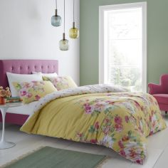 Catherine Lansfield Lille Floral Duvet Cover Set - Yellow