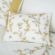 Catherine Lansfield Embrdroidered Blossom Filled Cushion - White