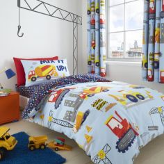 Catheirne Lansfield Kids Builders Construction Duvet Cover Set - Blue