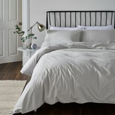 Catherine Lansfield Minimalist So Soft Duvet Cover Set - Silver Grey