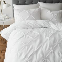 Catherine Lansfield Pinch Pleat So Soft Duvet Cover Set - White