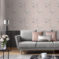 Catherine Lansfield Canterbury Floral Wallpaper - Blush Pink