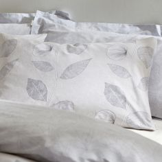 Bianca Makura Leaf 100% Cotton Oxford Pillowcase - Natural