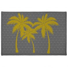 Pure Line Door Mat - Grey & Yellow