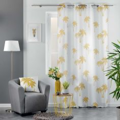 Pure Line Curtain Panel with Eyelets - Yellow