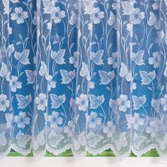 Fiji Butterfly White Net Curtain