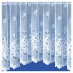 New York Floral White Jardiniere Net Curtain