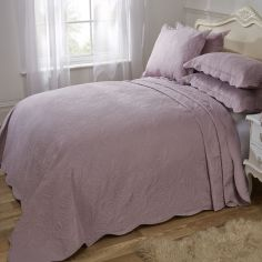 Athena Quilted Paisley Motif Bedspread Set - Aubergine