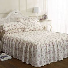 Beverly Floral Printed Bedspread Set - Lilac