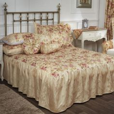 Versailles Woven Jacquard Duvet Cover Set with Floral Print - Multi