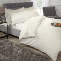 200 Thread Count Luxury Egyptian Cotton Duvet Cover Set - Cream
