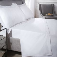 200 Thread Count Luxury Egyptian Cotton Fitted Sheet - White