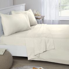 Flannelette Brushed Cotton Fitted Sheet - Cream