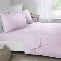 Flannelette Brushed Cotton Fitted Sheet - Pink
