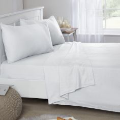 Flannelette Brushed Cotton Fitted Sheet - White