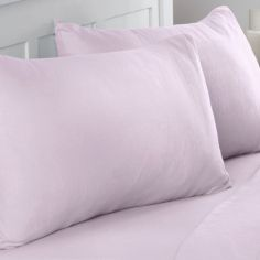 Flannelette Brushed Cotton Pillowcase Pair - Pink