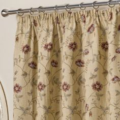 Banbury Floral Tapestry Fully Lined Tape Top Curtains - Multi