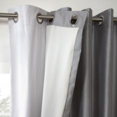 Total Blackout Eyelet Curtain Linings - White