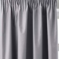 Faux Silk Luminous Fully Lined Tape Top Curtains - Silver Grey