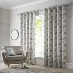 Springfield Floral Eyelet Curtains - Teal Blue