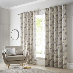 Springfield Floral Eyelet Curtains - Ochre Yellow
