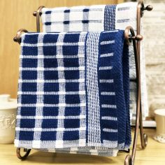 Brecon 100% Cotton Kitchen Tea Towel - Blue