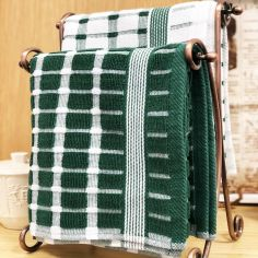 Brecon 100% Cotton Kitchen Tea Towel - Green