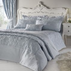 Armitage Jacquard Quilted Bedspread - Blue