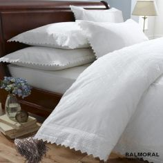 Balmoral Embroidered Pillowcases - White