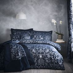Oak Tree Jacquard Bedspread Set - Midnight Blue