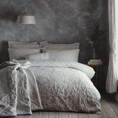 Oak Tree Jacquard Bedspread Set - Stone