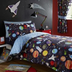 Planets Tape Top Curtains - Multi
