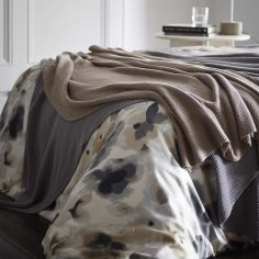 Maine 100% Cotton Knitted Throw - Silver Grey
