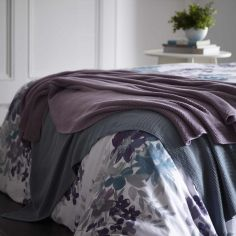 Maine 100% Cotton Knitted Throw - Mauve