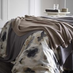 Maine 100% Cotton Knitted Throw - Pebble Grey