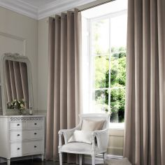 Veronica Taupe Natural Made to Measure Curtains