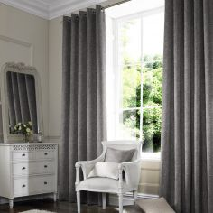 Ainsley Slate Black Grey Made to Measure Curtains