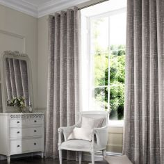 Vera Pewter Black Grey Line Made to Measure Curtains